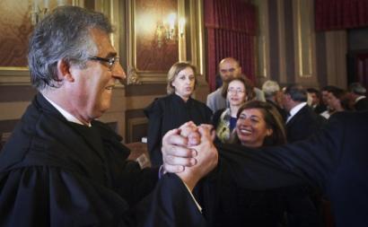 Luís Vaz das Neves na tomada de posse enquanto presidente do Tribunal da Relação de Lisboa.