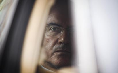 João Rendeiro, fundador do BPP, em 2014, à saída do julgamento.