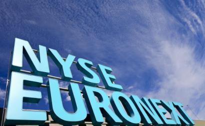 Letreiro da Euronext NYSE em Lisboa.