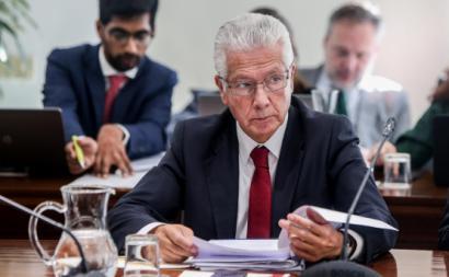 António Saraiva, presidente da CIP, numa reunião da concertação social em 2017.