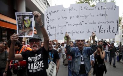 Manifestação em homenagem a Steve Maia Caniço, Nantes, 3 de Agosto de 2019. Foto: Yoan Valat/EPA/Lusa.