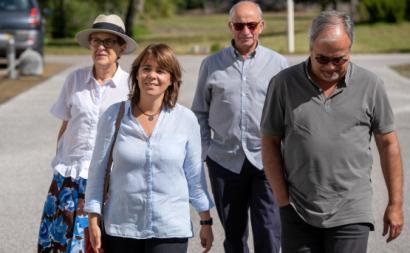 Catarina Martins em visita ao Centro de Medicina de Reabilitação Rovisco Pais.