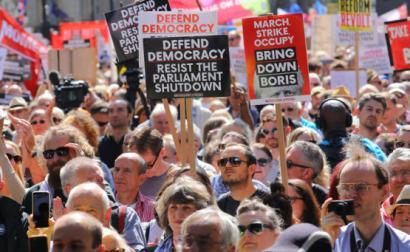 Manifestação em Londres.