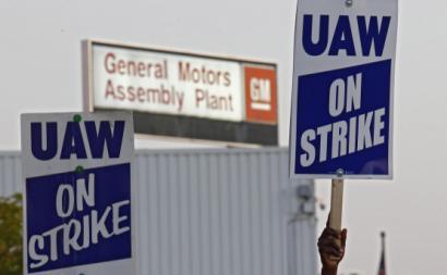 Trabalhadores da GM em greve. Setembro 2019.