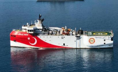 Oruc Reis, o navio de prospeção da Turquia.