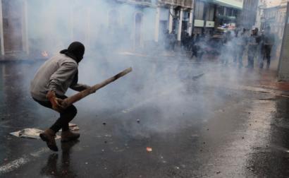Protestos em Quito