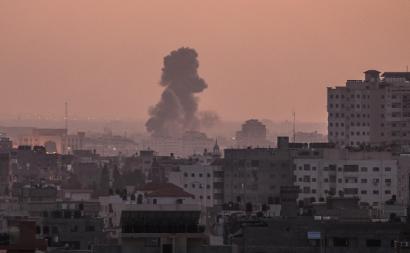 Bombardeamento israelita em Gaza. Novembro de 2019.