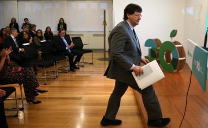 Pedro Soares dos Santos, presidente do conselho de administração da Jerónimo Martins, a empresa campeã em desigualdade salarial. 14 de novembro 2019. Foto de MANUEL DE ALMEIDA/Lusa.