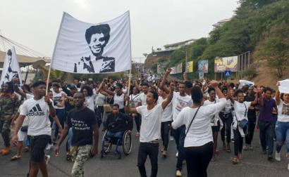Manifestação na Cidade da Praia