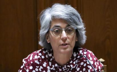 Graça Fonseca numa audição na Assembleia da República.