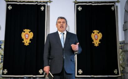 Paulo Fernandes, da Altri/Cofina em audiência com o Presidente da República. 20 de abril de 2020. Foto de José Sena Goulão/Lusa.