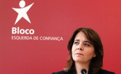 Catarina Martins no final da Mesa Nacional. Junho de 2020. Fotografia de Tiago Petinga/Lusa.