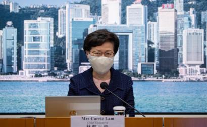 Carrie Lam anuncia o adiamento das eleições em Hong Kong. Foto de JEROME FAVRE/EPA/Lusa.