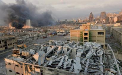 Explosão em Beirute. Foto de WAEL HAMZEH/EPA/Lusa.