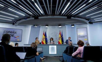 Conferência de imprensa após reunião do Conselho de Ministros espanhol