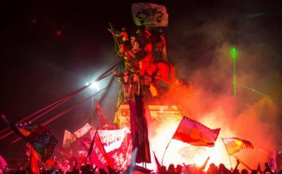 Festejos pela vitória do novo processo constituinte. Santiago do Chile, outubro de 2020.Alberto Valdes/EPA/Lusa.