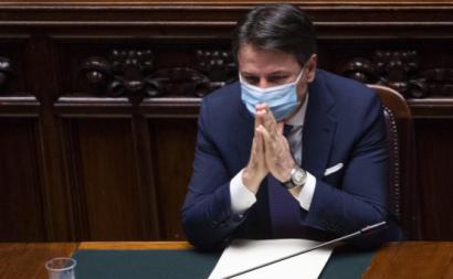 Giuseppe Conte anuncia medidas de combate à Covid-19 no Parlamento Italiano. Foto de Maurizio Brambatti/Flickr.