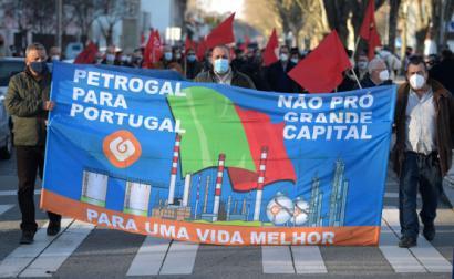 Protesto dos trabalhadores da Galp.