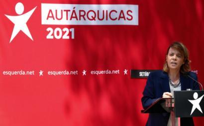 Catarina Martins em Setúbal. Foto de ANTÓNIO COTRIM/Lusa.