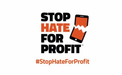 Logotipo da campanha Stop Hate for Profit.