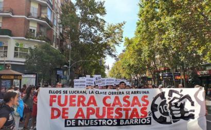 Manifestação em Madrid
