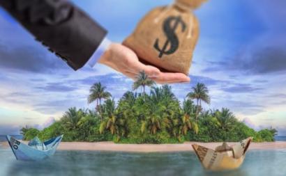 Ilustração sobre paraísos fiscais.