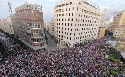 Manifestação no Líbano. Outubro de 2019.