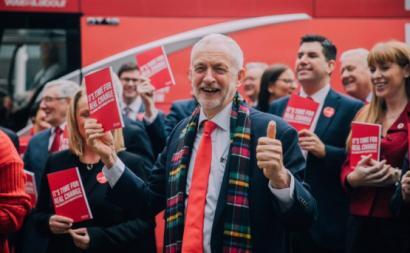 """""""É tempo de mudança real"""". Manifesto do Labour para as eleições britânicas. Novembro de 2019."""