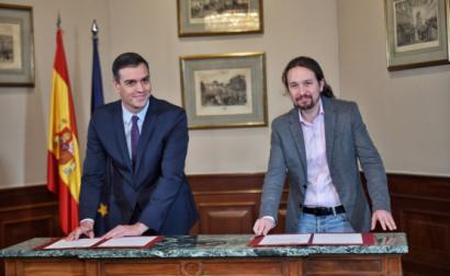 Pedro Sánchez e Pablo Iglesias.