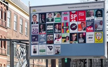 Cartazes das eleições de 17 de março de 2021 na Holanda – Foto de Roel Wijnants/flickr