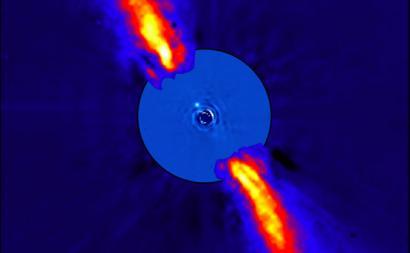 O planeta Beta Pictoris B visto a luz infravermelha. Imagem: ESO/A.-M. Lagrange et al.