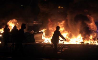 Segunda noite de protestos em Barcelona