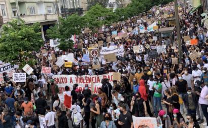 Manifestação anti-racista em Lisboa. Junho de 2020.