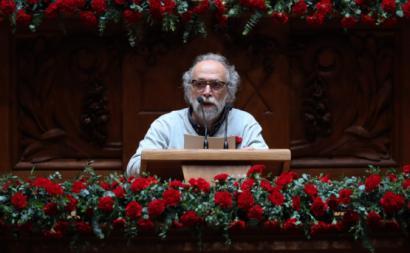Jorge Falcato na sessão solene do 25 de abril na Assembleia da República, 2019. Foto António Cotrim/Lusa.