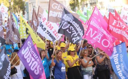 Manifestação de Professores. Outubro de 2019.