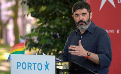 Sérgio Aires, candidato do Bloco à Câmara Municipal do Porto. Foto de Fernando Veludo, Lusa.
