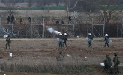 Fronteira Grécia Turquia tensão em ambos os lados da fronteira Orestiada, Grécia, 7 de março de 2020 – Foto de Dimitris Tosidis