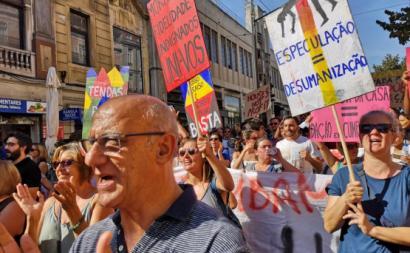 Manifestação pela habitação em Lisboa, Setembro de 2018.