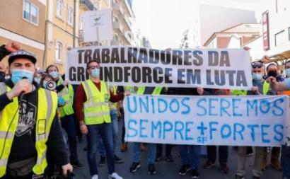 Luta dos trabalhadores da SPdH (Groundforce) prolonga-se há meses - Foto António Cotrim/Lusa