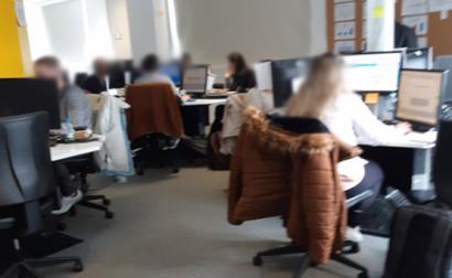 Trabalhadores do call-center
