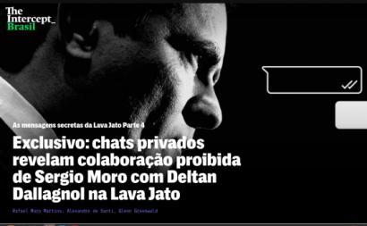 Abertura da terceira reportagem do The Intercept Brasil