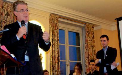 Jean-Paul Delevoye quando era presidente do Conselho Económico, Social e Ambiental. 2013.