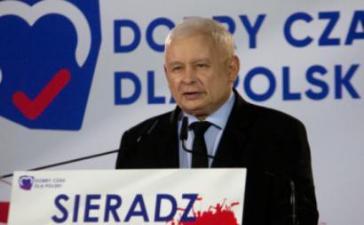 Kaczynski e o seu partido de extrema direita (PiS) teve mais de 44% dos votos