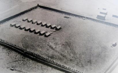 Fotografa aérea de 1937 do Campo de Concentração do Tarrafal.