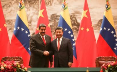Nicolás Maduro e Xi Jinping, foto da viagem do presidente venezuelano à China em setembro de 2018
