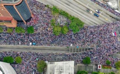 Manifestação convocada pela Assembleia Nacional, Caracas, 23 de janeiro