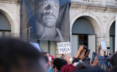 Manifestação em Lisboa em memória de Bruno Candé.