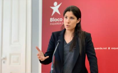 Mariana Mortágua na conferència de imprensa desta segunda-feira, 15 de junho de 2020