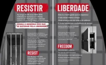 Parte do Memorial aos Presos e Perseguidos políticos, que será inaugurado na estação Baixa-Chiado em Lisboa