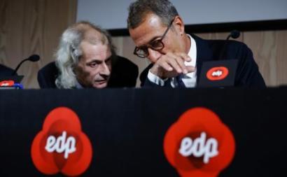 João Manso Neto, atual presidente executivo da EDP Renováveis, recebeu em 2018 1,46 milhões de euros e António Mexia 2,19 milhões - foto de Tiago Petinga/Lusa (arquivo)